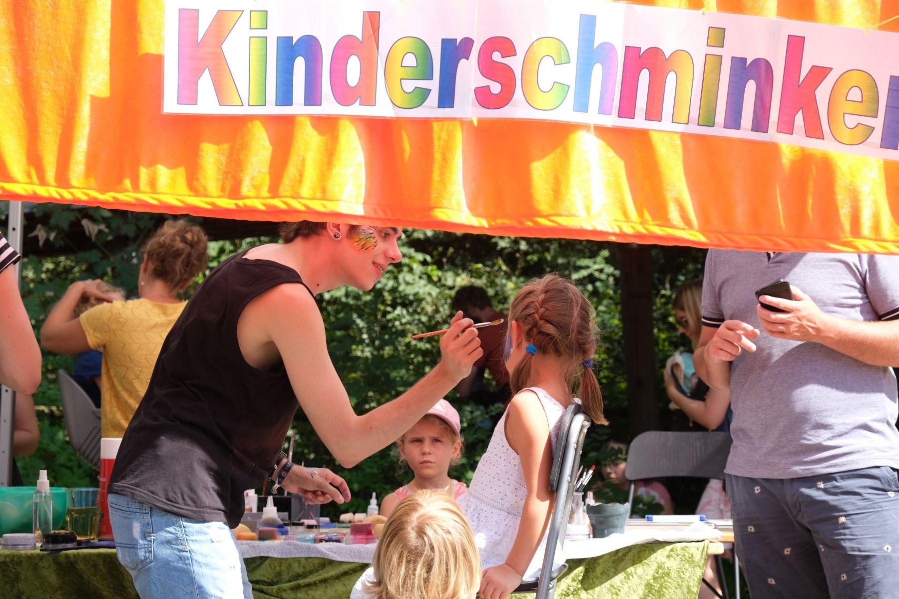 Kinderschminken im Tierpark Dählhölzli 2019