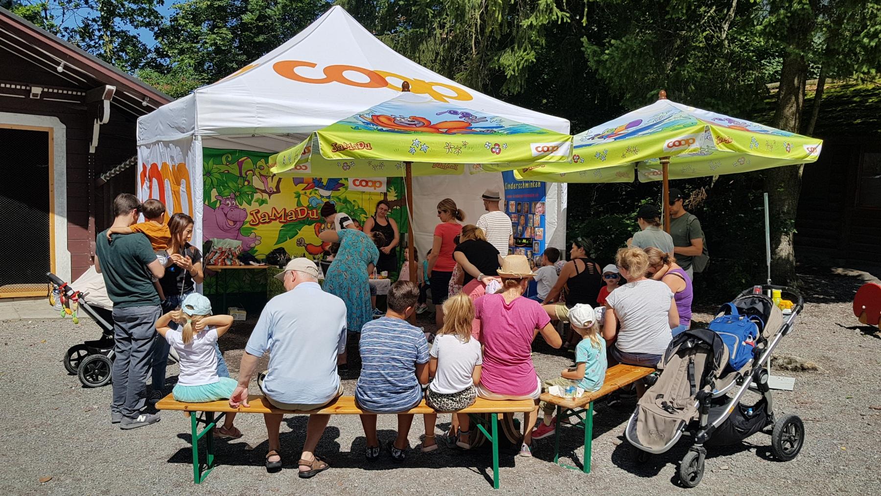 Kinderschminken im Tierpark Goldau 2019